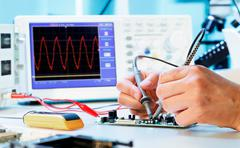 measurement of a waveform - stock photo