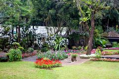 Mae fah luang garden,locate on doi tung, chiangrai province, thailand Stock Photos