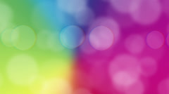 Bokeh Animated Background - Rainbow Stock Footage