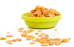 corn flakes - stock photo