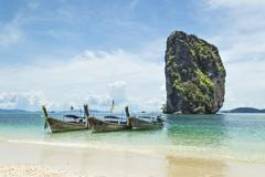 Longtail near poda island, krabi province, thailand Stock Photos