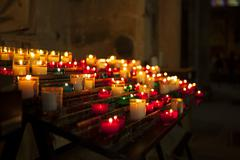 Candels in church Stock Photos