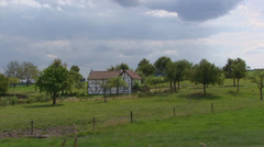 Authentic timbered farmhouse in valley South Limburg, The Netherlands. Stock Footage