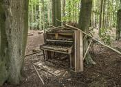 Stock Photo of abandoned piano