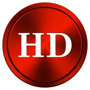 hd icon - stock illustration