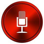 microphone icon - stock illustration