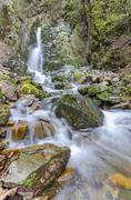 beautiful waterfall in macedonia, vertical - stock photo