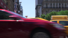 Pedestrains & Cars Stock Footage