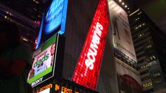 Broadway billboards Stock Footage