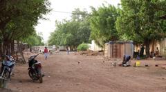Timelapse in bamako's little street Stock Footage