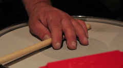 drumsticks playing to the rhythm - stock footage
