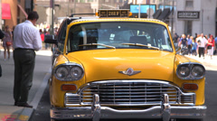 Old Taxi in New York NY Stock Footage