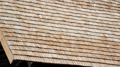 Brand new wooden roof Stock Footage