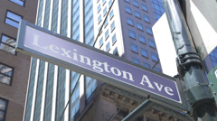 Lexington Avenue Sign NY - stock footage