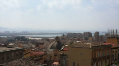 Panoramic view of Cagliari Stock Footage