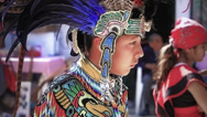 Stock Video Footage of Teenager with aztec costume