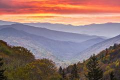 smoky mountains - stock photo