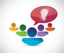idea message people illustration design - stock illustration