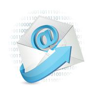 email binary concept illustration design - stock illustration