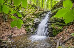 Famous waterfall in spring pehcevo, macedonia hidden in deep in ecology clean Stock Photos