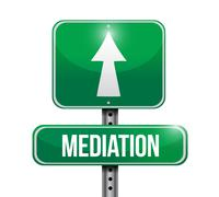 mediation road sign illustration design - stock illustration