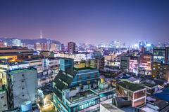Seoul Skyline Kuvituskuvat