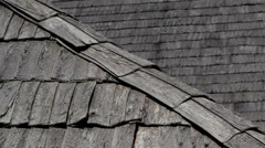 A close image of the black roof Stock Footage