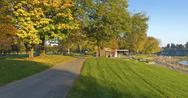 Stock Photo of blue lake park panorama fairview oreogn.