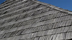Zoomed image of the black roof Stock Footage