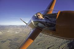 flying aerobatics - stock photo