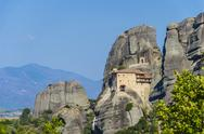 Stock Photo of meteora, the famous hanging monastery of meteora, greece. it belongs to the u
