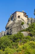 Moni agiou nikolaou one of the famous meteora monasteries in greece. under un Stock Photos