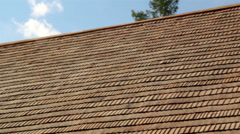 Brown colored roof Stock Footage