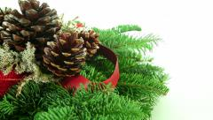 Christmas branch decoration background Stock Footage