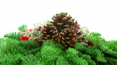 Tree branch Christmas background Stock Footage