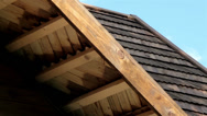Stock Video Footage of house with cedar wooden shingle shake roof fascia