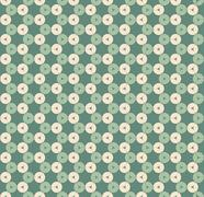 abstract vector seamless retro background - stock illustration