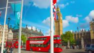 Stock Video Footage of Big Ben and Parliament Square in London