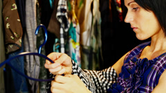 Women keep clothes episode 1 Stock Footage