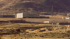 NSA data center in Utah zoomed in Stock Footage