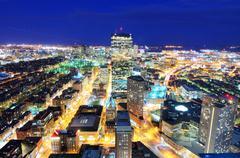 Boston cityscape Stock Photos