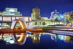 hiroshima peace memorial park - stock photo