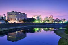 Okayama cityscape Stock Photos