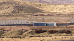 Aerial view Zoom of National Security Agency Data center Utah - stock footage
