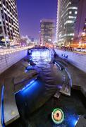 Cheonggyecheon in seoul Stock Photos