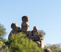 matobo national park bulawao zimbabwe - stock photo