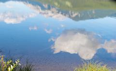 rock lake alberta canada and willmore wilderness - stock photo