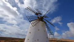 windmill and clouds time lapse tilt 11152 - stock footage