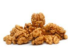 kernel of walnut - stock photo