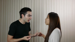 Young Couple Arguing And Fighting Stock Footage